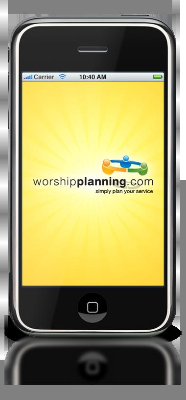 WorshipPlanning.com iPhone App