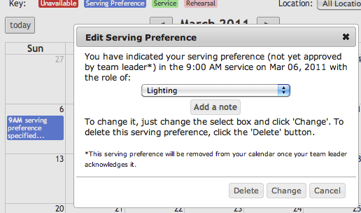 MyWP  Serving Preference
