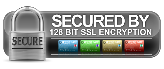Secured by 128 bit SSL Encryption