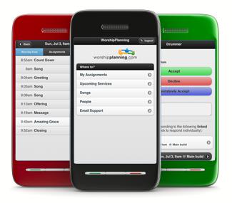 WorshipPlanning.com Mobile App