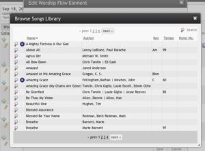 Song Selection Window