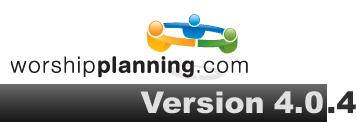 WorshipPlanning.com version 4.0.4 Logo