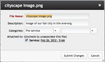 Editing Files Dialog