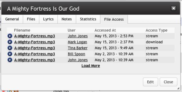 File Access Tab