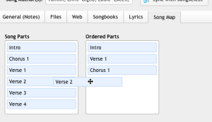 ordering in song library